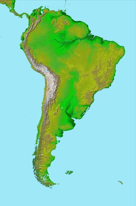 MAPA DE SUDAMÉRICA EN 3D