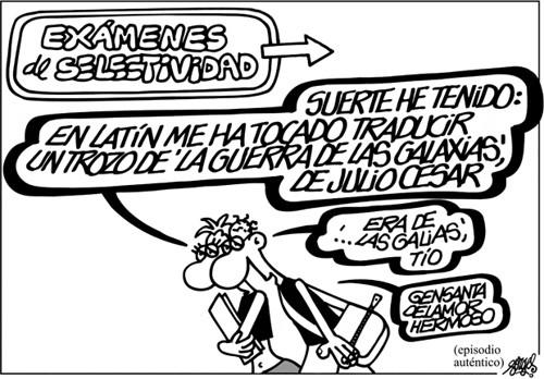 Los alumnos de Selectividad en Historia.