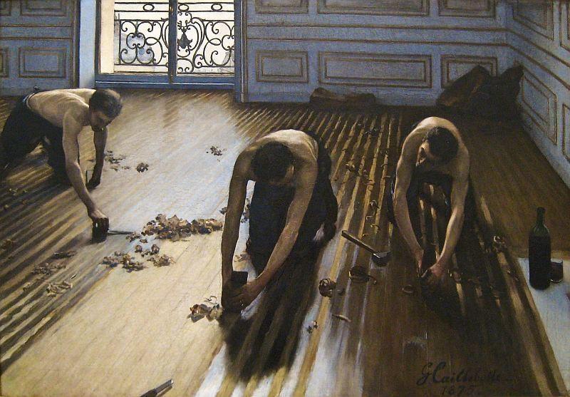 Los cepilladores de parquet de Caillebotte de 1875