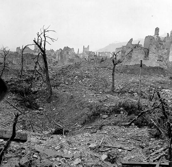La batalla de Montecassino, a comienzos de 1944.