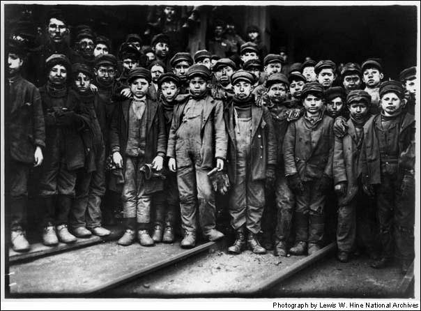 Niños mineros en Pennsilvania 1910