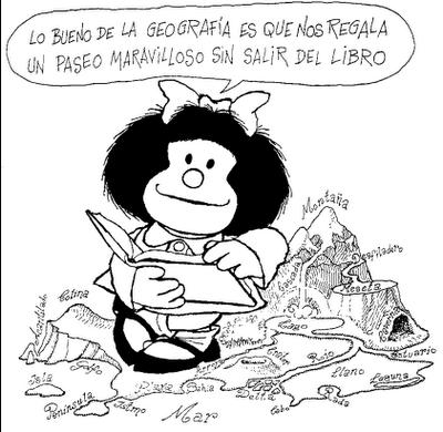 Mafalda y su visión cómoda de la Geografía