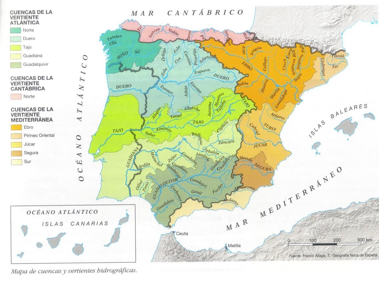 MAPA DE LAS CUENCAS HISDROGRÁFICAS
