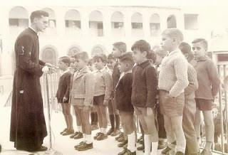 La escuela franquista en manos de la Iglesia.