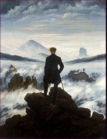 C. David Friedrich. Viajero junto al mar de niebla