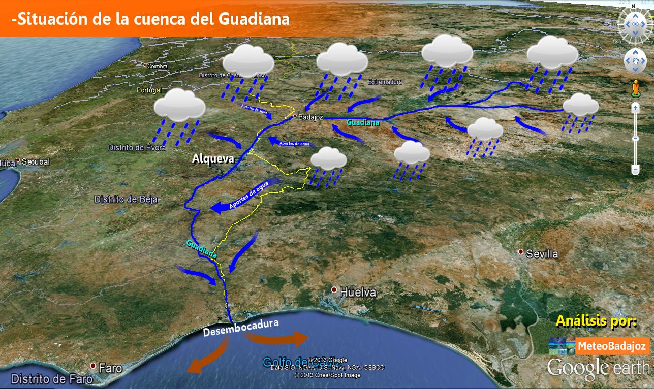 Aportes de la cuenca del Guadiana.
