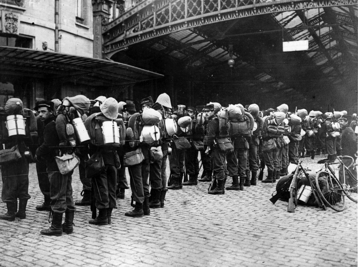 1914 Tropas francesas al frente