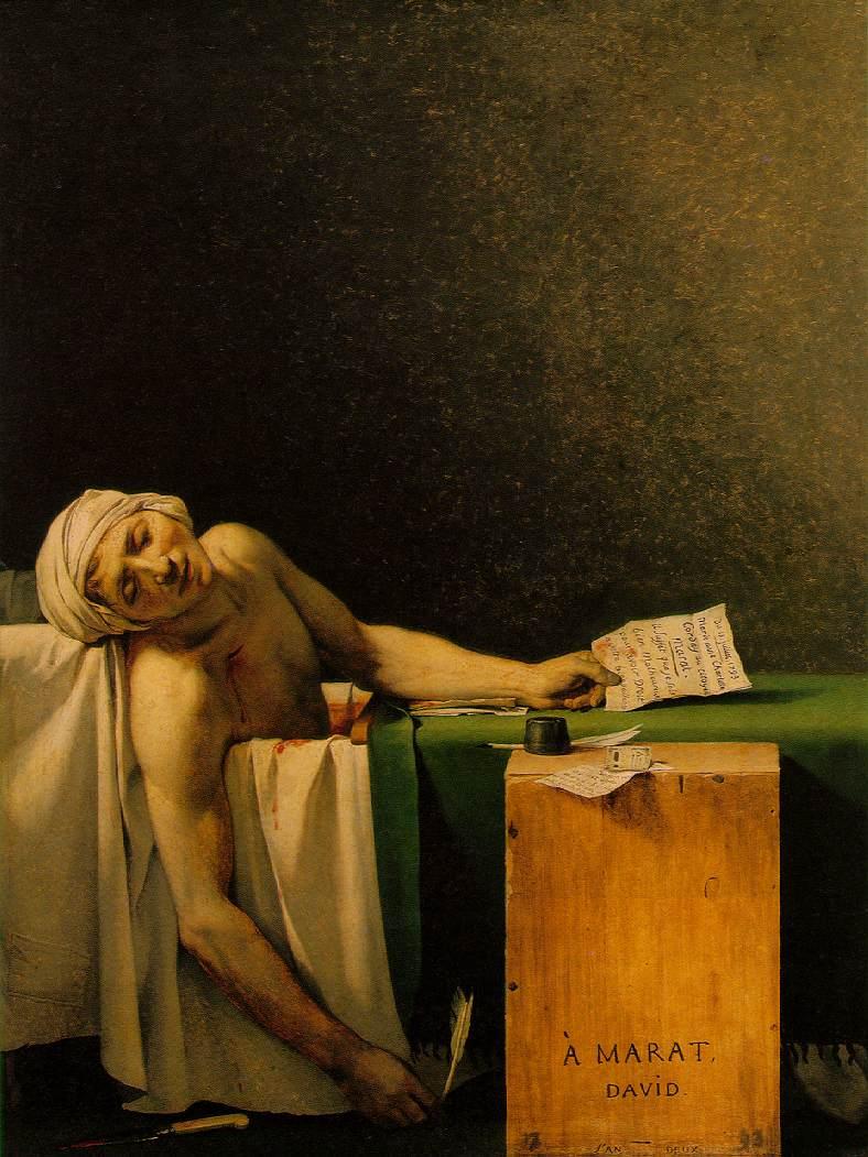 La muerte de Marat.