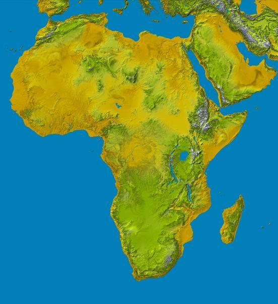 MAPA DE ÁFRICA EN 3D.