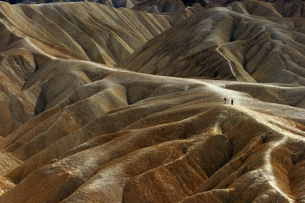 Zabriskie Point, en el Death Valley.