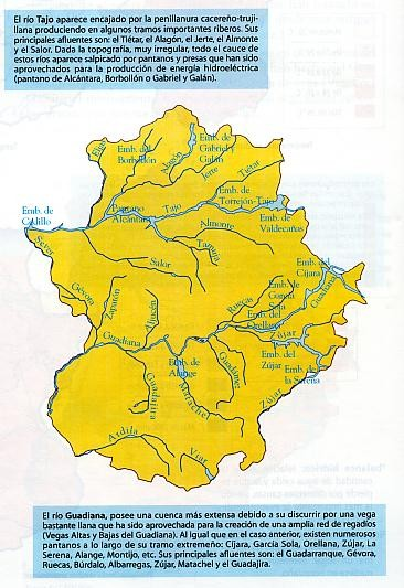Mapa de Rios en Extremadura III.