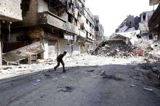Las calles de Damasco entre balas.