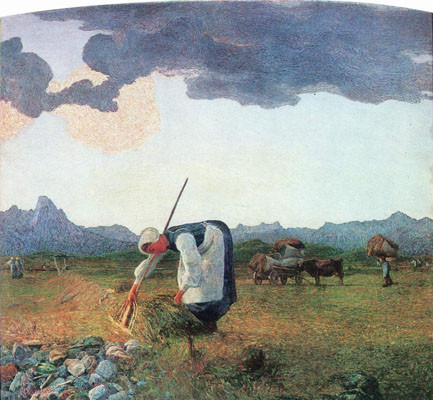 La cosecha de heno de Segantini.