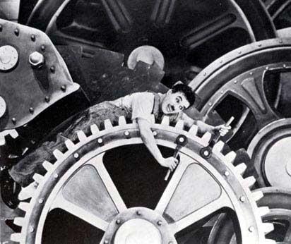 Chaplin en Modern Times (1936).