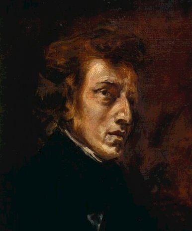 Retrato de Chopin de Delacroix.