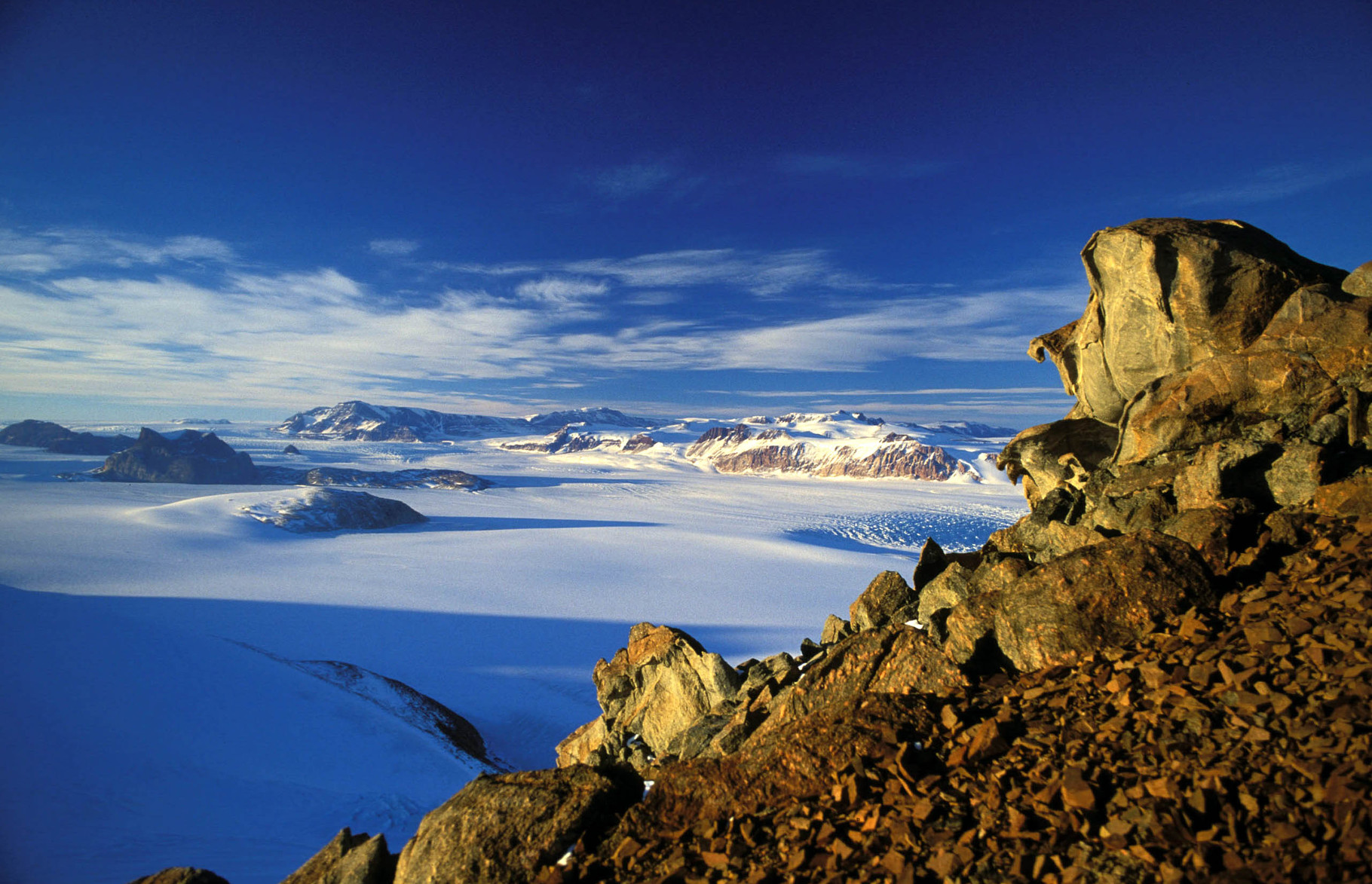 Montañas transantárticas...