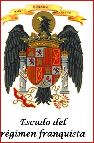 """¡¡¡OJO, escudo franquista!!!...casi un """"calco"""" del escudo de los RR.CC."""