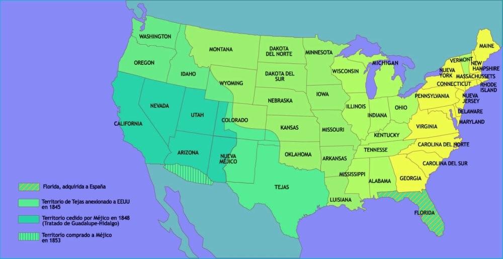 Los EE.UU a mediados del s.XIX