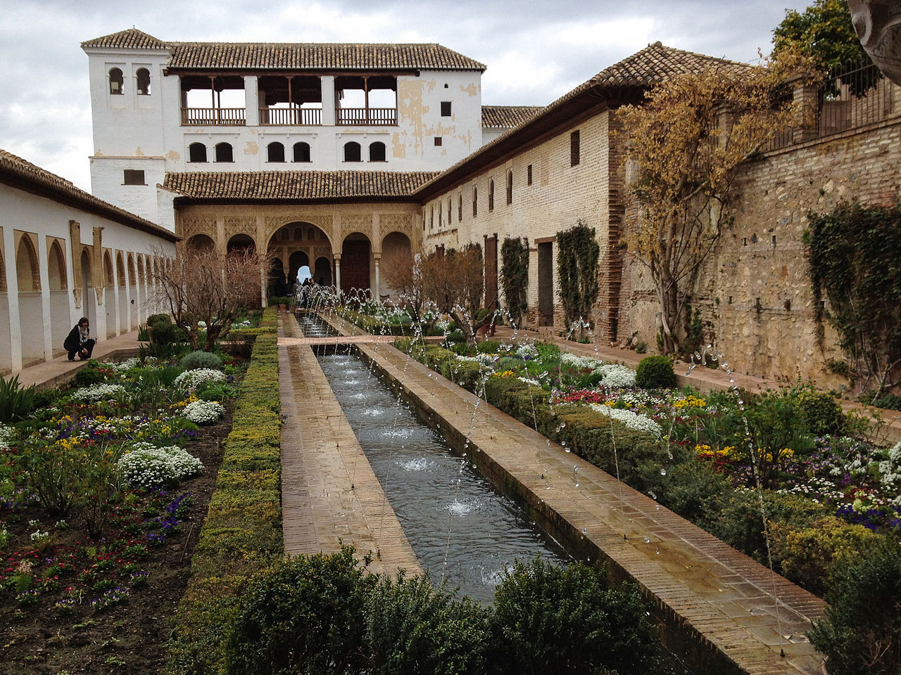 Jardines del Generalife de la Alhambra.