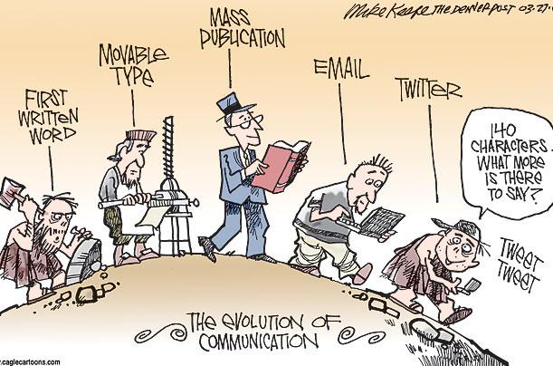 La evolución de la comunicación.