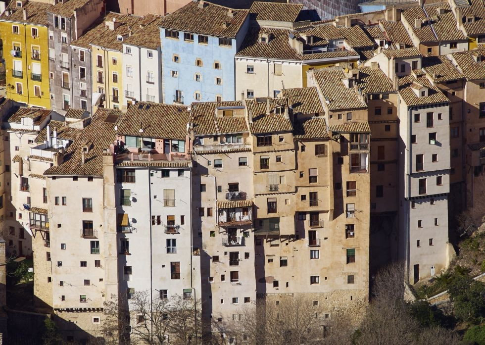 Casas colgantes de Cuenca.