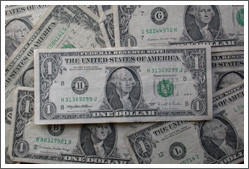 """El dólar como gran """"totem"""" del capitalismo financiero de la Bolsa de Nueva York."""