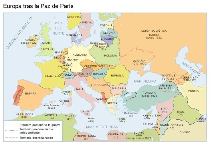 Esquemas Mapas Y Algunas Imágenes Sobre La 1ª Guerra Mundial Recursos De Geografía E Historia