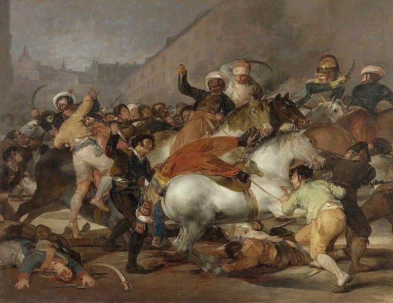 La carga de los mamelucos o el 2 de mayo de Goya, 1814.