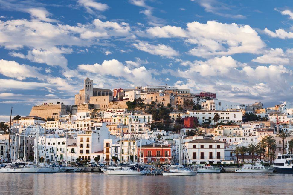Casco histórico de Ibiza.