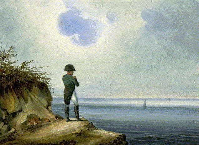 Napoléon en su prisión del Atlántico Sur de Santa Elena.