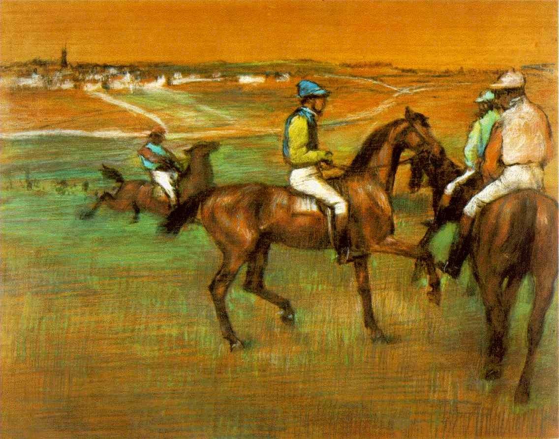 Carrera de caballos de Degás.