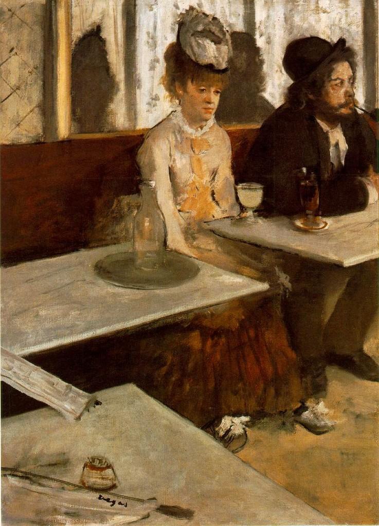 Los bebedores de absenta de Degás de 1876.