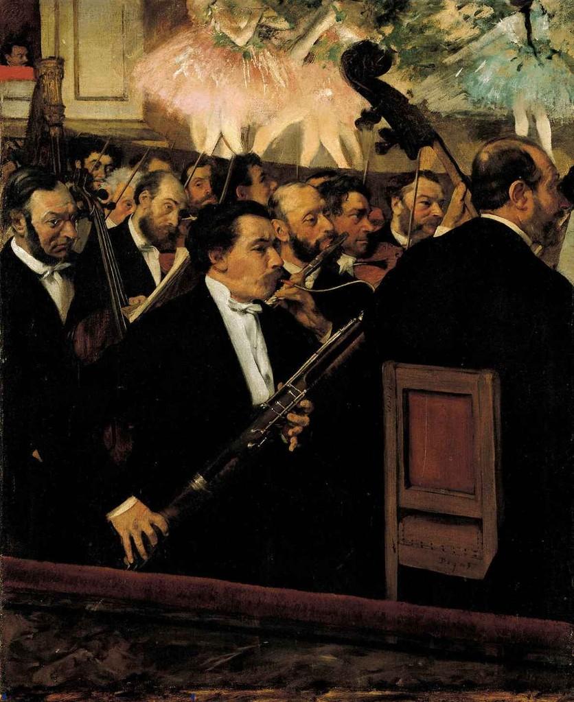 La orquesta de la ópera de Degás. 1870