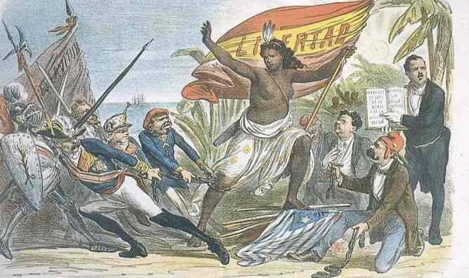 República. Entre los protagonistas principales: Emilio Castelar y Pi i Margall.  Independencia de Cuba en 1873, por La Flaca.