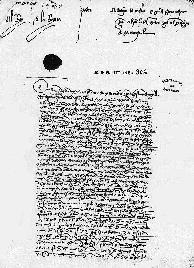 Tratado de Alcaçovas, 4 de septiembre de 1479.