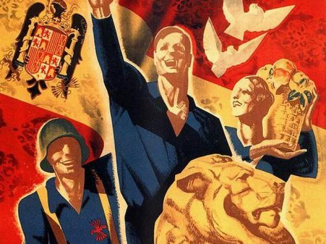 Los símbolos del movimiento Nacional.