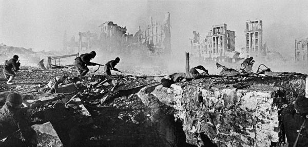 Tropas alemanas en la batalla de Stalingrado.