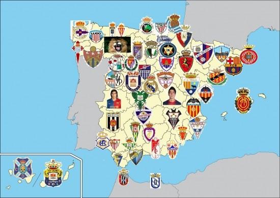 Mapa futbolero o cómo enseñar Geografía a los alumnos mediante la geofutbolería.