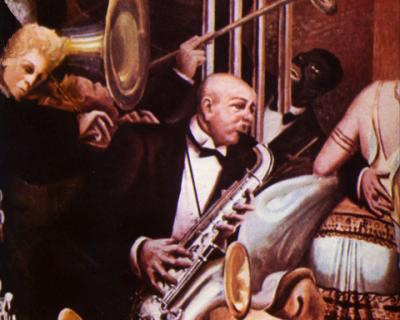 """Las """"big band"""" estilos de música desenfadada y alegre de la época."""