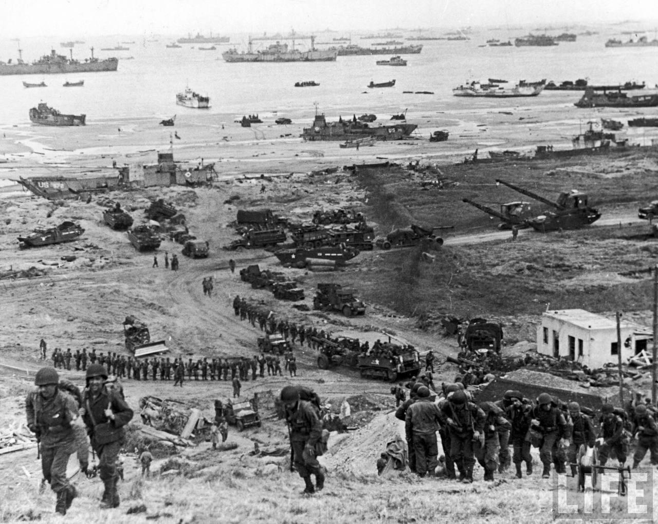 Despliegue aliado del desembarco de Normandía.