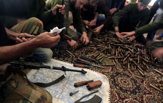 Las armas de los rebeldes, muchas de ellas de suministro occidental.