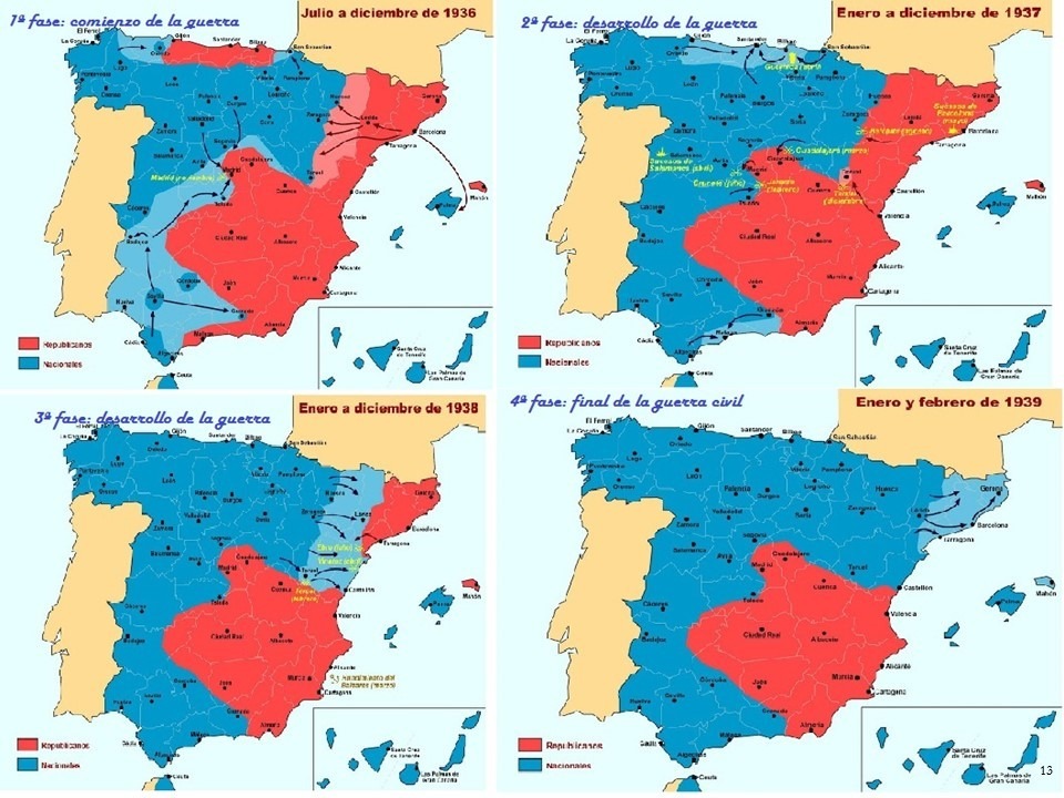 Mapa Bandos Guerra Civil Española.Ebau Extremadura Estandares De Aprendizaje Evaluables Y