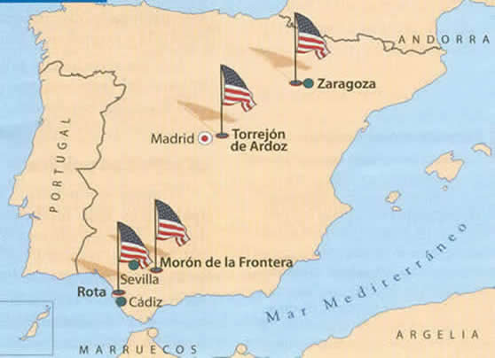 Bases norteamericanas en España.