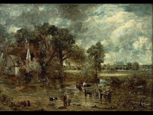 John Constable. El carro de heno.