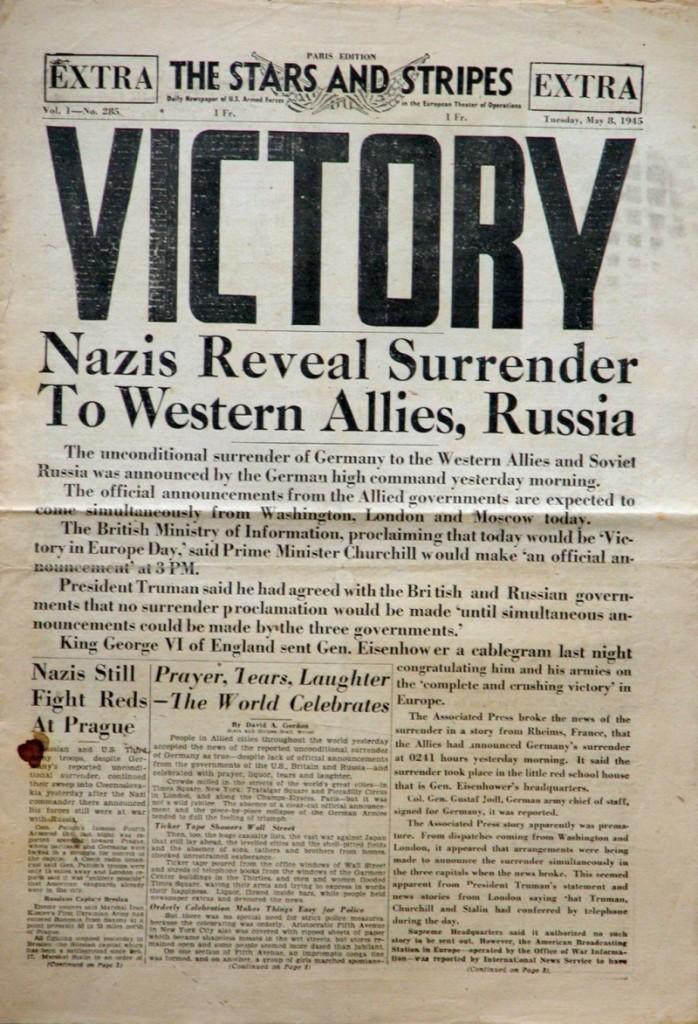 La victoria aliada en los medios de comunicación