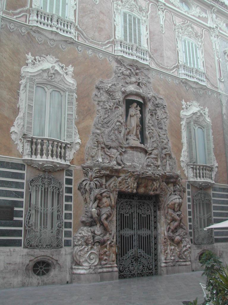 FACHADA DEL PALACIO DEL MARQUÉS DE DOS AGUAS.Valencia.Rovira