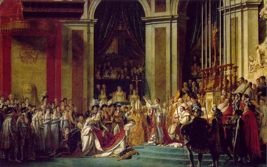 La coronación de Napoleón de David.
