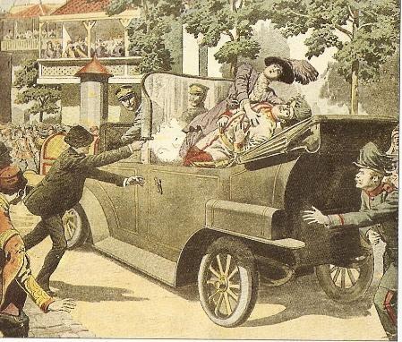 El asesinato del archiduque Franz Ferdinand en Sarajevo.
