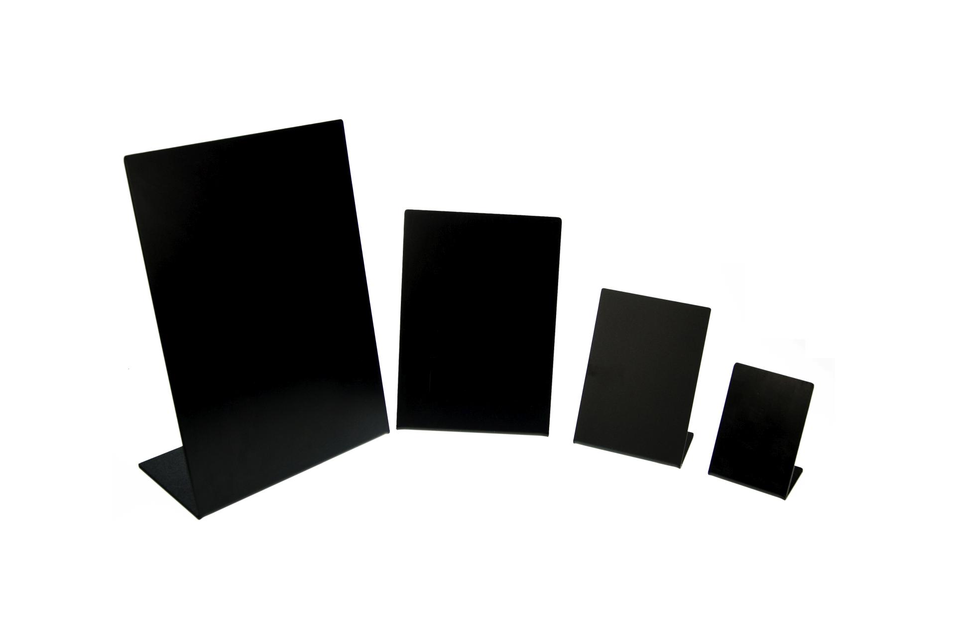 L-Aufsteller, 4 verschiedene Größen