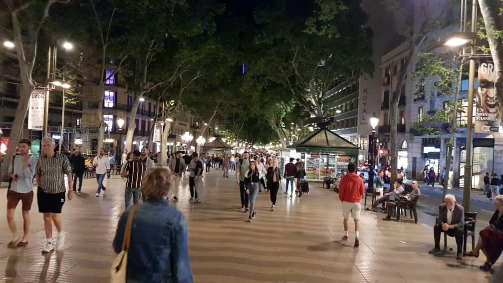 La Rambla by night